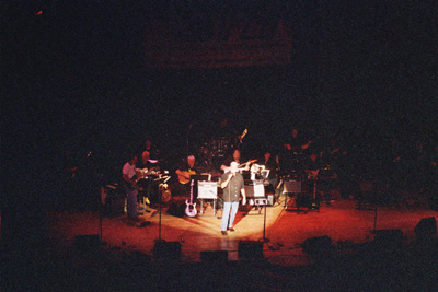 Con on stage at the Ryman Auditorum for the IFCO Show